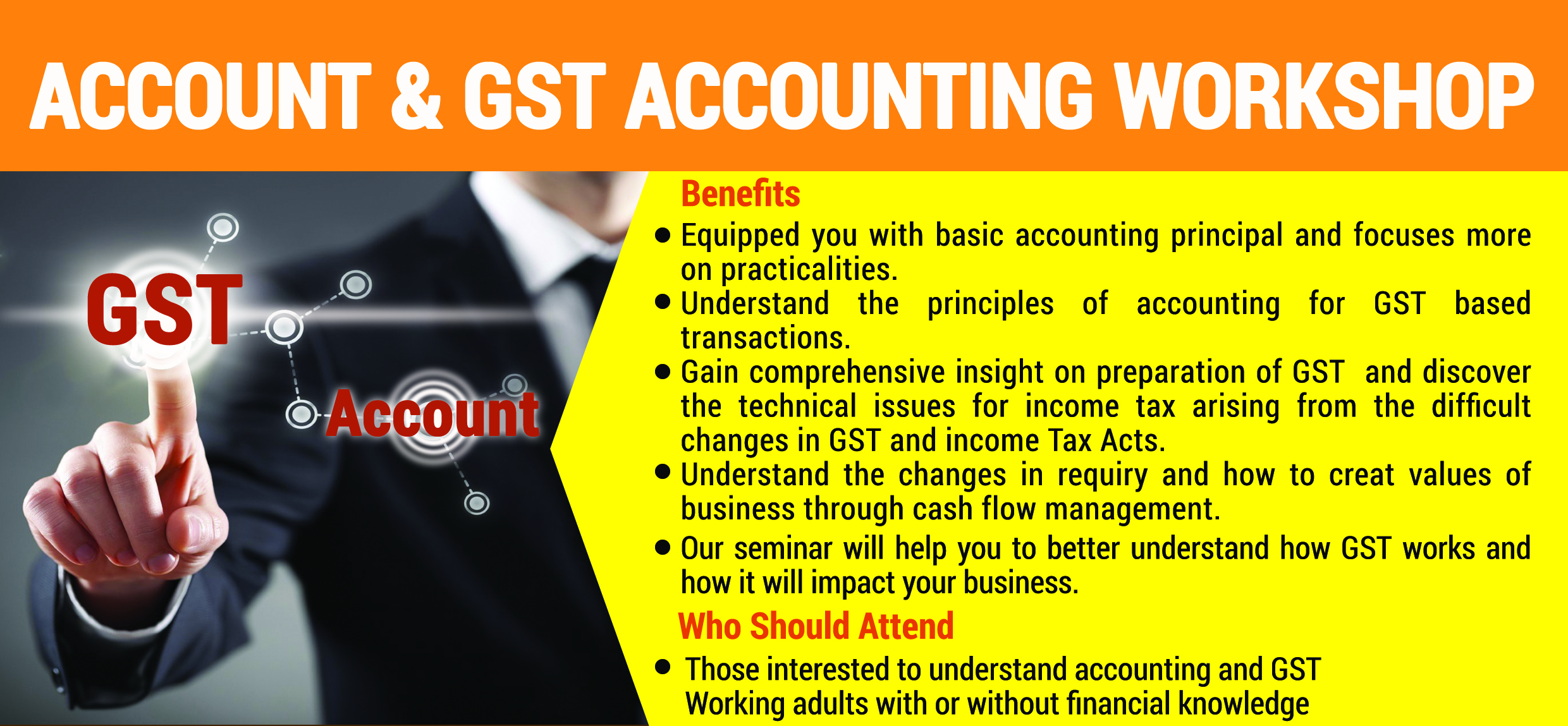account+ GST workshop header